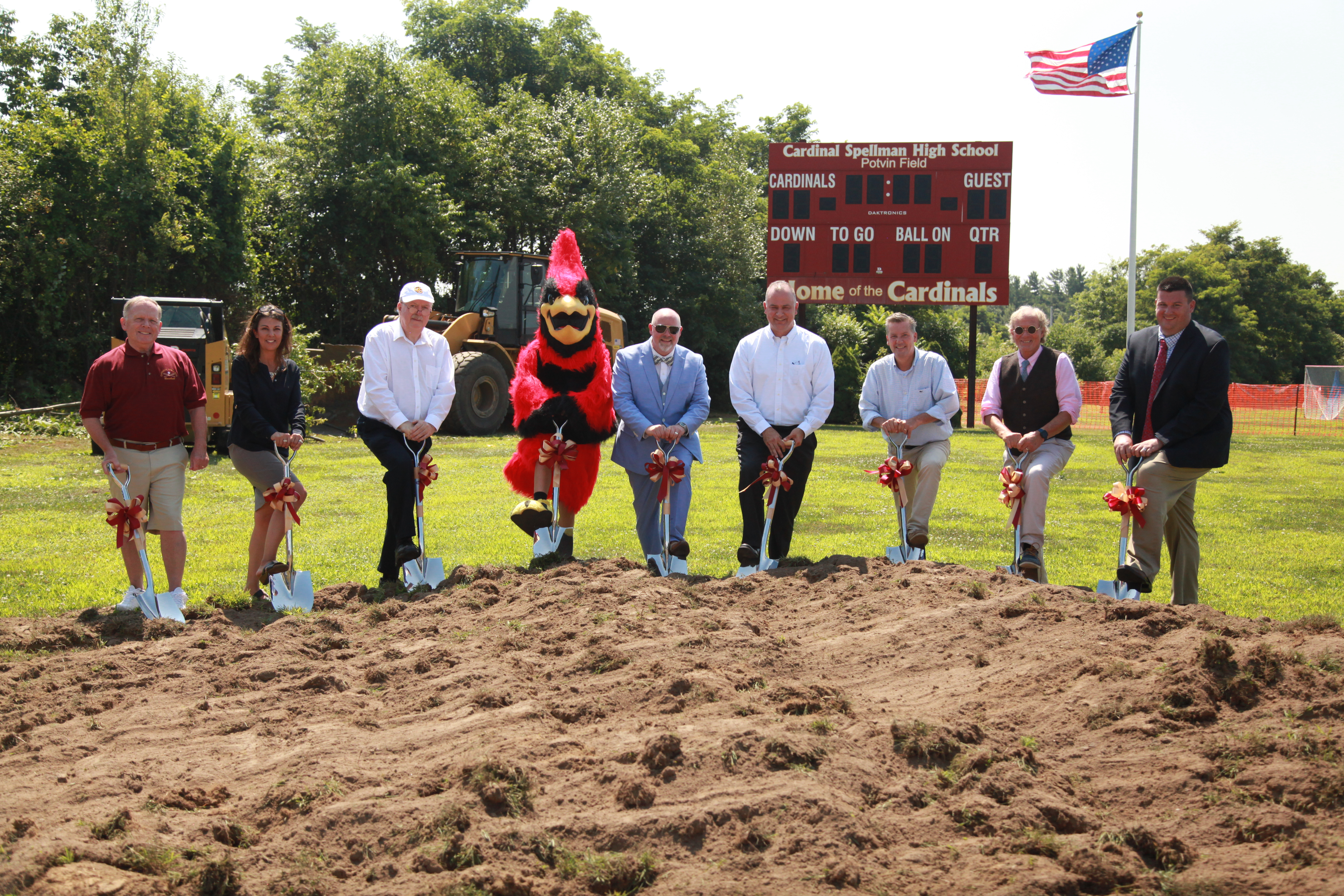 Spellman breaks ground on new turf field!