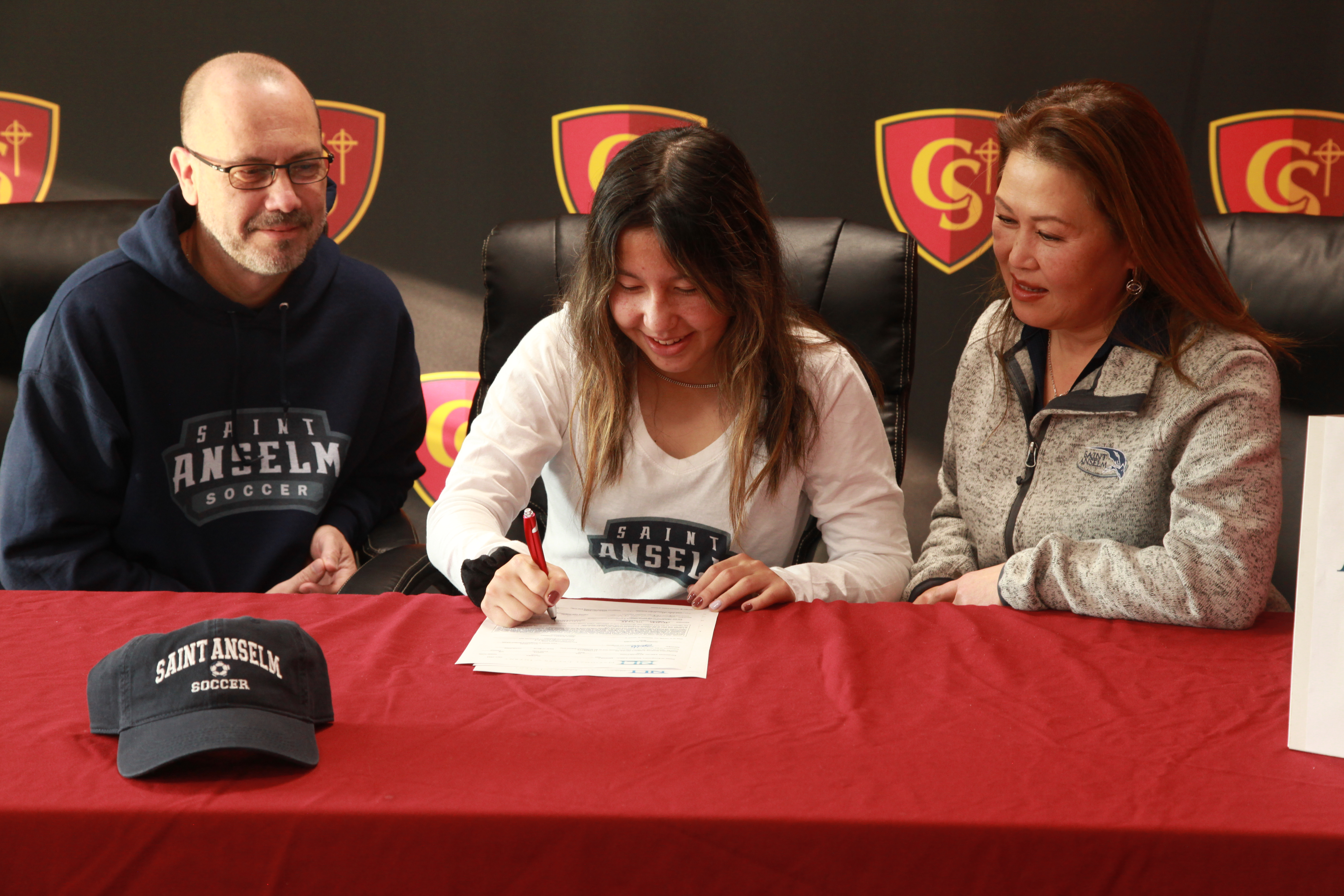 Spellman student Alyssa McColl signs with Saint Anselm to play Division II Soccer!